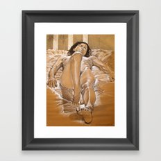 Figure Study of Nude Model, Firenze Framed Art Print