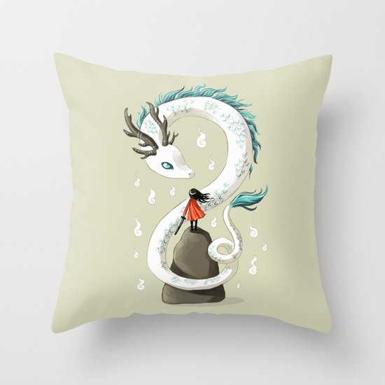 Dragon Spirit Throw Pillow