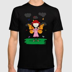 i heart butterflies Black SMALL Mens Fitted Tee
