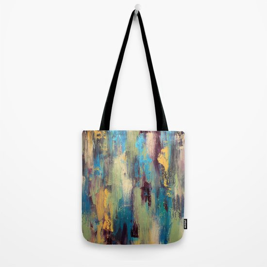 Case Design paint palette phone case : Palette Knife Paint - Green, purple and blue Tote Bag by Liz Moran ...