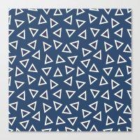 Triangle Spots Canvas Print