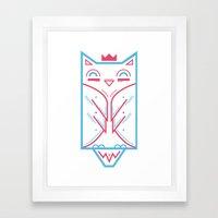 Hoo! Framed Art Print