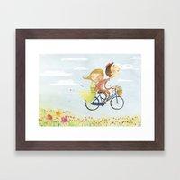 Love grows wings Framed Art Print