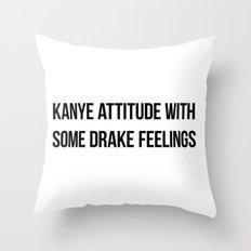 Attitude and Feelings Throw Pillow