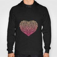 Pink Heart - Light White… Hoody