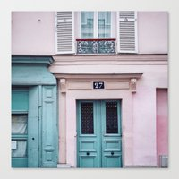 Paris Facades. Canvas Print