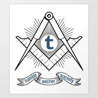 Tumblr Secret Society Art Print