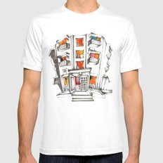 Japanese building White Mens Fitted Tee SMALL