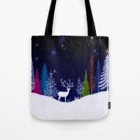 Snowy Night Tote Bag