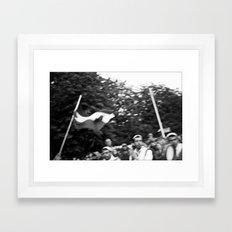 Palestinian flag Framed Art Print