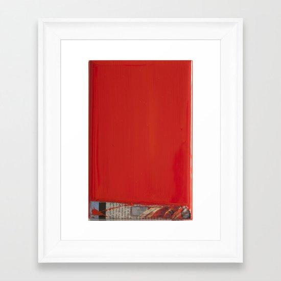 RED1 Framed Art Print