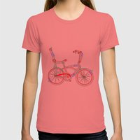 Aztec Bicycle Womens Fitted Tee Pomegranate SMALL