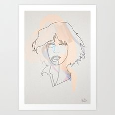 One Line Patti Smith Art Print