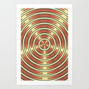 Retro Ripples Art Print