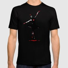 Dance With Death  SMALL Black Mens Fitted Tee