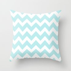 Turquoise Aqua Blue Chevron Throw Pillow