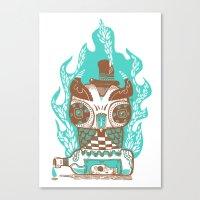 Good to the Last Drop - Chocqua Owl Canvas Print