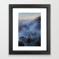 Grand Canyon Fog Framed Art Print