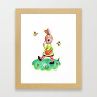Rebecca Rabbit As Franco… Framed Art Print