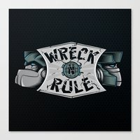 Wreck n Rule Canvas Print