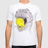 Zest For Life T-Rex Dino Mens Fitted Tee Ash Grey SMALL