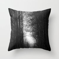 In The Deep Dark Forest.… Throw Pillow