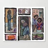 Losing My Shoes In Venic… Canvas Print