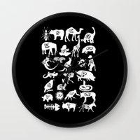 Animal A-Z Wall Clock