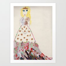 A lovely Princess Art Print