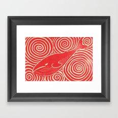 Whale Print Framed Art Print