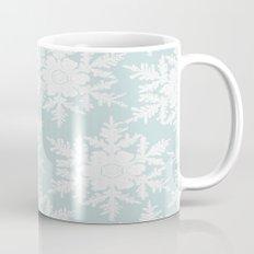 Wedgewood Blue Winter Christmas Snowflake Design Mug