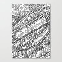 The Town of Train 3 Canvas Print