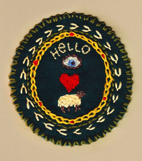 Hello eye heart ewe Art Print