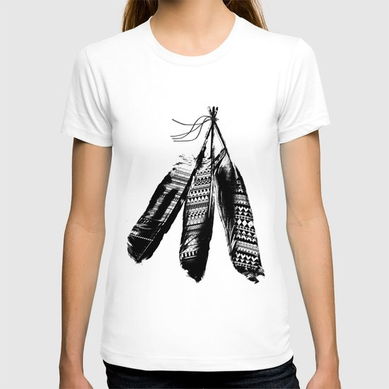Tribal Feather Trio T-shirt
