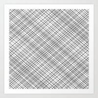 Weave 45 Black and White Art Print