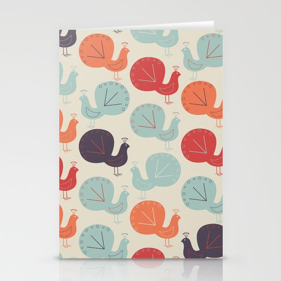 Peacock Pattern Stationery Card