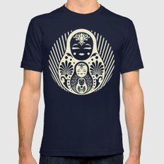 Nesting Mens Fitted Tee Navy SMALL