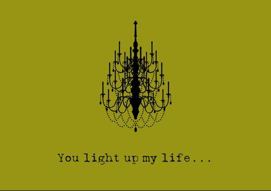 You light up my life... Art Print