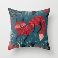 F O X ! Throw Pillow