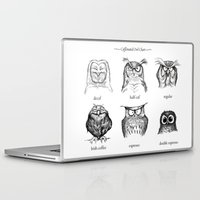 owls Laptop & iPad Skins featuring Caffeinated Owls by Dave Mottram