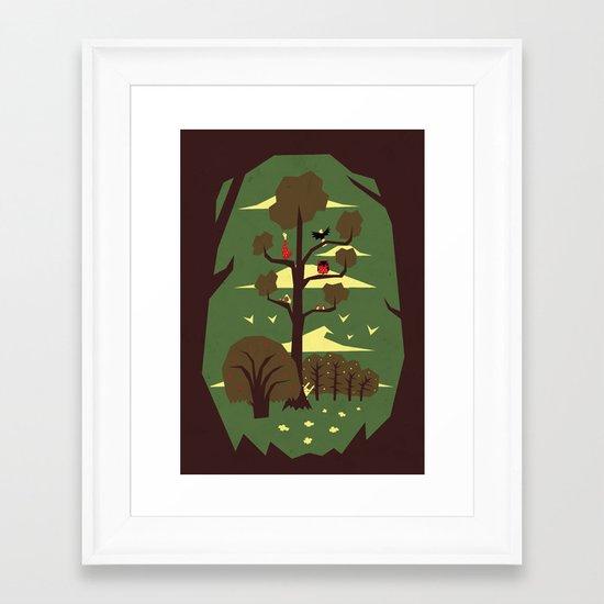 R is for Rabbit Framed Art Print