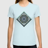 Wild Blueberries Womens Fitted Tee Light Blue SMALL