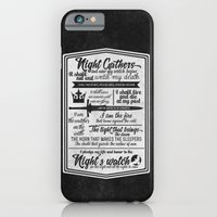 iPhone & iPod Case featuring Game Of Thrones - The Night's Watch Oath - New edition by Teacuppiranha