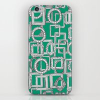 picture frames aplenty green iPhone & iPod Skin