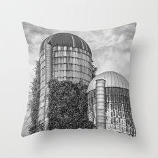 Abandoned Silos Throw Pillow