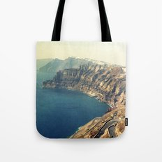 The insane roads of Santorini Tote Bag