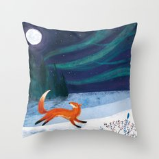 Northern Skies Throw Pillow