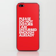 iPhone & iPod Skin featuring PLEASE DO NOT DISTURB I … by WORDS BRAND™