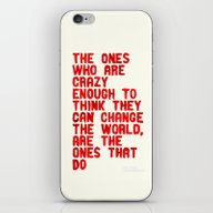 iPhone & iPod Skin featuring The Crazy Ones by WRDBNR
