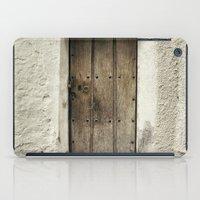 Retro door in mountains village iPad Case